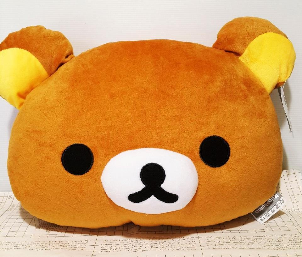 【真愛日本】15121200028 12吋頭型抱枕-懶熊 拉拉熊 Rilakkuma 抱枕 靠枕 娃娃