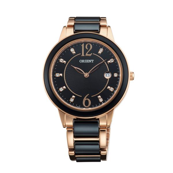 Orient 東方錶(FGW04001B)閃亮晶鑽陶瓷腕錶/黑面38.5mm