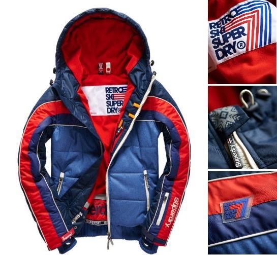 【男款】極度乾燥 Superdry 極地滑雪夾克 亮眼運動 保暖外套 防風 超輕質 潮流必備 藍紅 灰橘