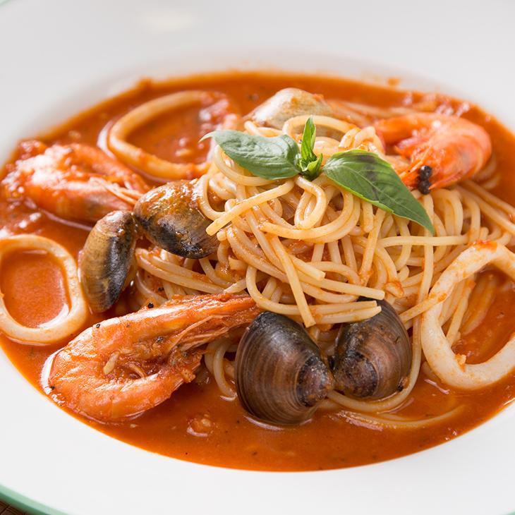 【紅坊義式廚房】漁夫蕃茄海鮮義大利麵 / 料理包
