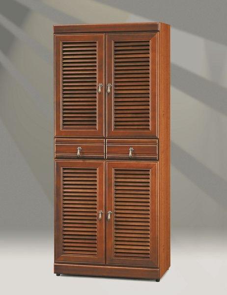 【石川家居】OU-803-1 正樟木2.5*6尺百葉鞋櫃 (不含其他商品) 需搭配車趟