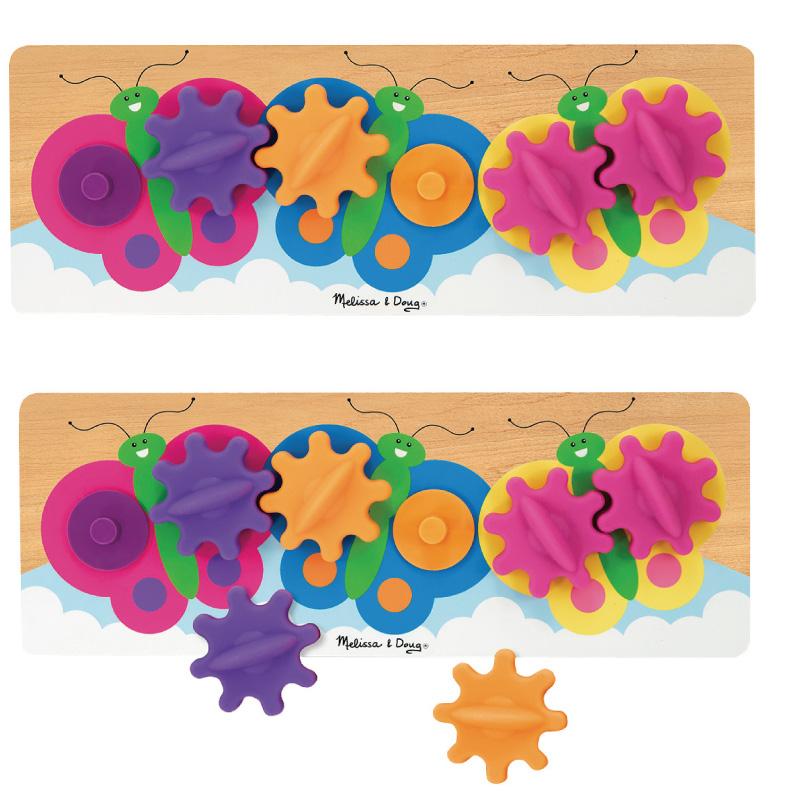 【華森葳兒童教玩具】益智邏輯系列-蝴蝶齒輪遊戲 N7-3074