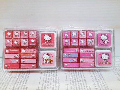 【真愛日本】14021900012 二代可愛印章組-KT2款 KITTY 凱蒂貓 三麗鷗 印章 文具 印泥