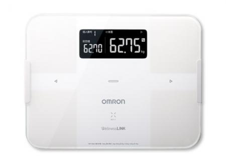 OMRON歐姆龍體脂肪計 HBF-254C(白色),加贈歐姆龍計步器HJ325,運動毛巾及專用提袋
