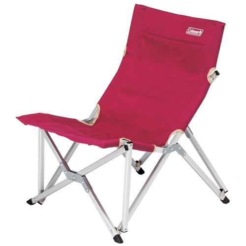 【露營趣】中和 Coleman 帆布樂活椅/葡萄紅 附收納袋 大川椅 休閒椅 導演椅 摺疊椅 CM-3111