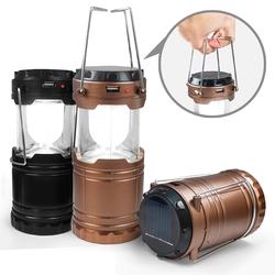 【迪特軍3C】太陽能充電/電池 二用 手提式露營燈 - 伸縮收納不佔空間也適合居家使用 (USB-60)