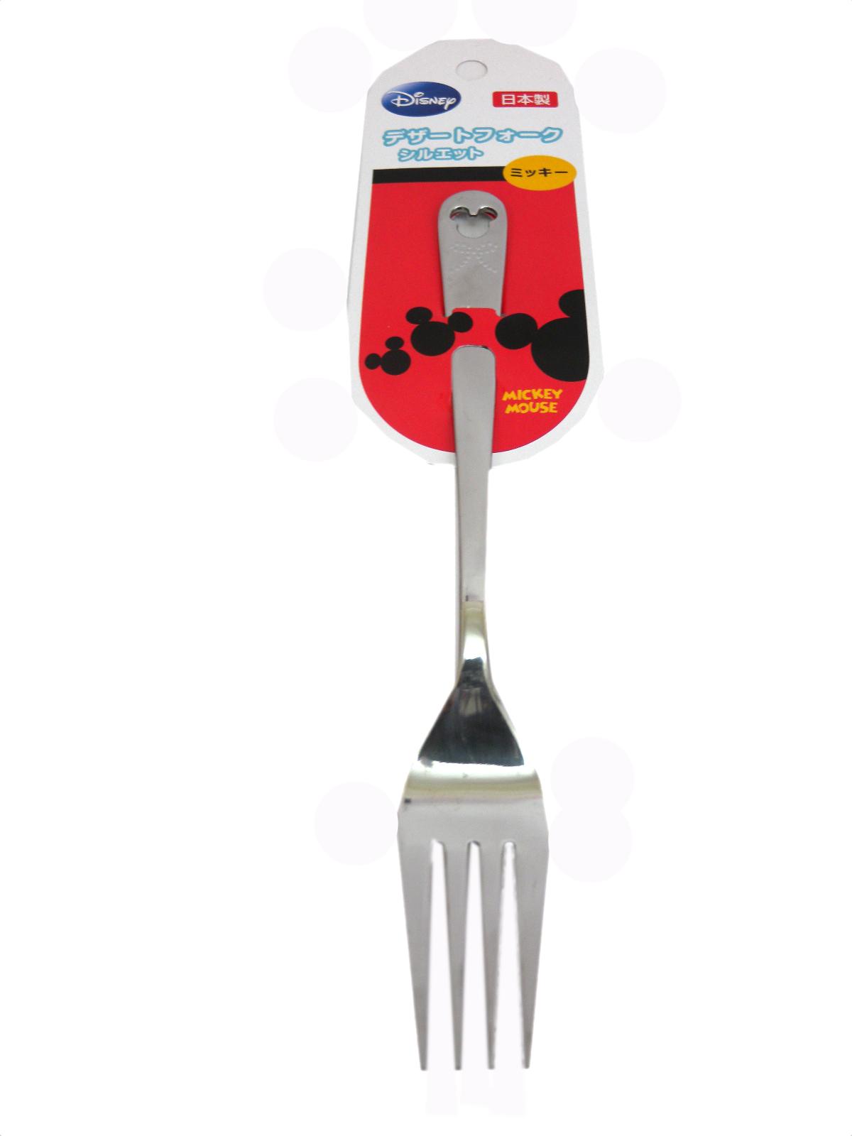 【真愛日本】15090400013 造型不鏽鋼叉子大-MK頭 迪士尼 米老鼠米奇 米妮 叉子 餐具 水果叉 食器 餐具