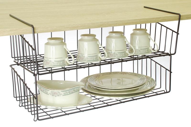 【凱樂絲】媽咪好幫手DIY櫃子鐵線收納籃(吊架式) - 大型, 垂直空間利用-組合式 廚房, 浴室, 客廳, 衣櫃, 櫥櫃適用