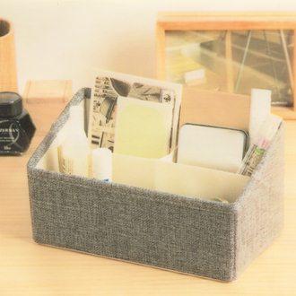 【珍昕】 品田日居/長方3格小物收納盒~2色/咖啡.灰(22x12x12cm)
