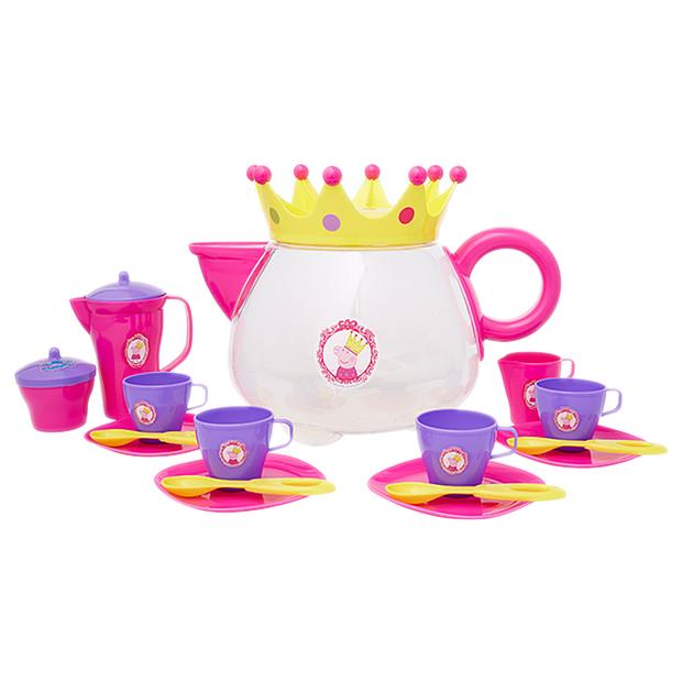 粉紅豬小妹大型茶具組/ PEPPA PIG TEAPOT TEA SET/ 扮家家酒/ 伯寶行
