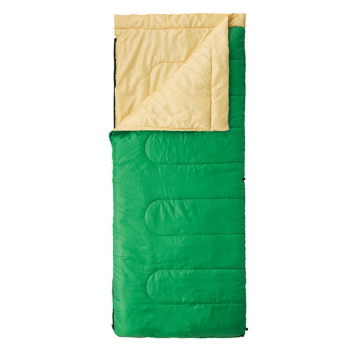 【露營趣】中和 附手電筒 Coleman 表演者II萊姆綠睡袋/C10 信封型睡袋 化纖睡袋 纖維睡袋 可全開併接cm-27261