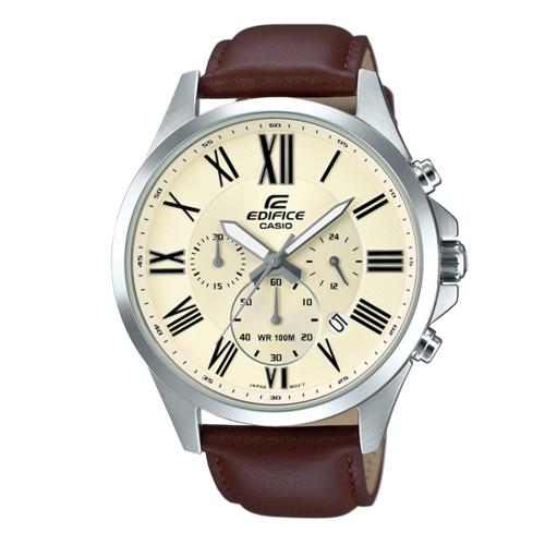 CASIO EDIFICE簡潔精準的羅馬數字腕錶/EFV-500L-7A