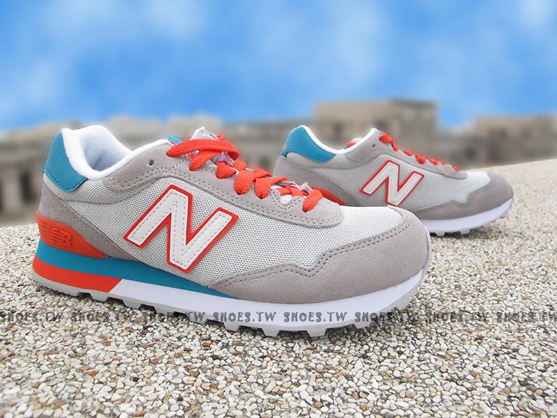 Shoestw【WL515AHB】NEW BALANCE NB515 復古慢跑鞋 灰藍橘 女生尺寸