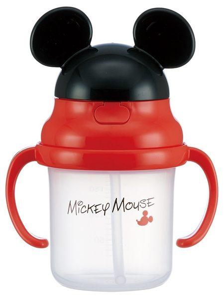 日本 [ 迪士尼 ] 米奇吸管學習水杯( 有耳 )  兒童餐具 兒童水壺