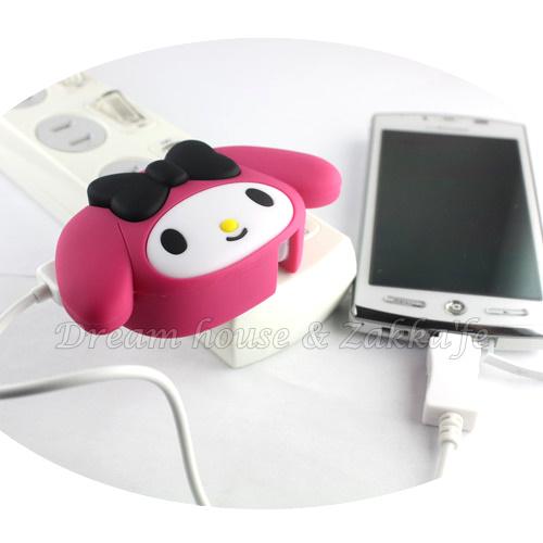 日本限定 原裝進口 Melody 造型 USB 充電器 插頭 《 正版三麗鷗 Sanrio 》 ★ Zakka\