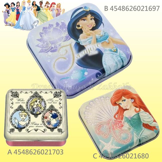 日本原裝進口 DISNEY 迪士尼 公主 迷你小物置物盒/鐵盒 《 3款任選 》★ 日本製 ★ Zakka\
