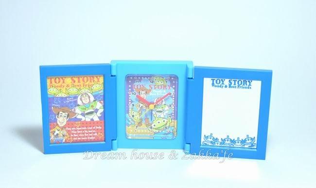 日本正版 Disney 迪士尼 多功能摺疊鏡子/鬧鐘/相框《 玩具總動員 》★ 超可愛喔 ★