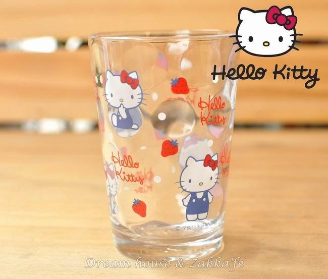 日本 sanrio 三麗鷗 Hello Kitty 草莓玻璃杯 《 凱蒂貓 》 ★ 日本製 ★