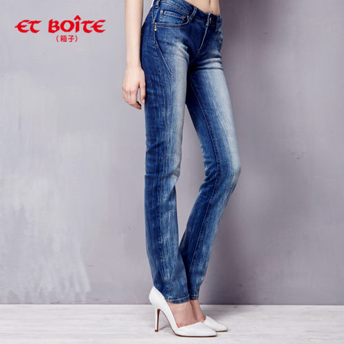 【ET BOiTE 箱子】輕磅輕旅丹寧褲(深藍)