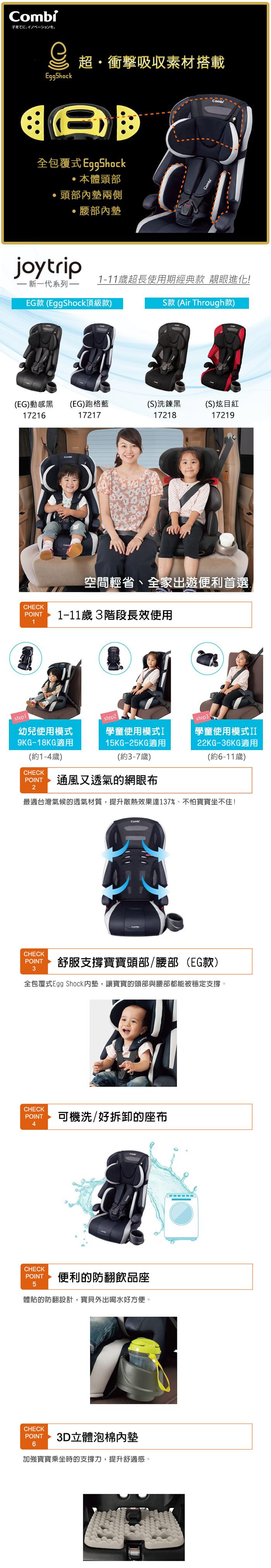 Combi Joytrip 2018 MC (EG)汽車安全座椅