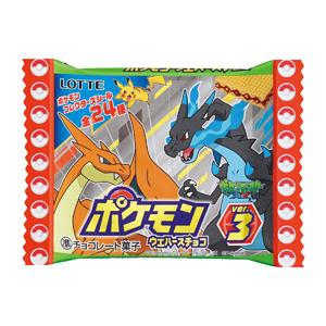 有樂町進口食品 日本進口 寶可夢 Lotte 神奇寶貝 皮卡丘巧克力威化餅(附貼紙) 23g J28 4903333196548