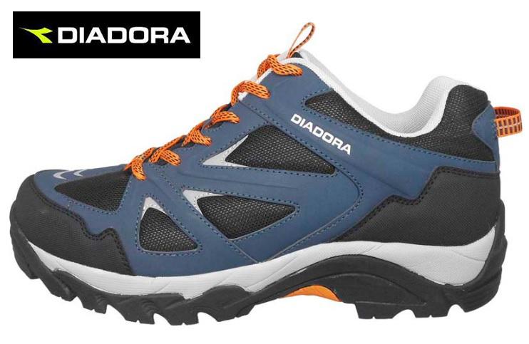 【巷子屋】義大利國寶鞋-DIADORA迪亞多納 男款防潑水寬楦戶外運動鞋 [3716] 藍 超值價$896