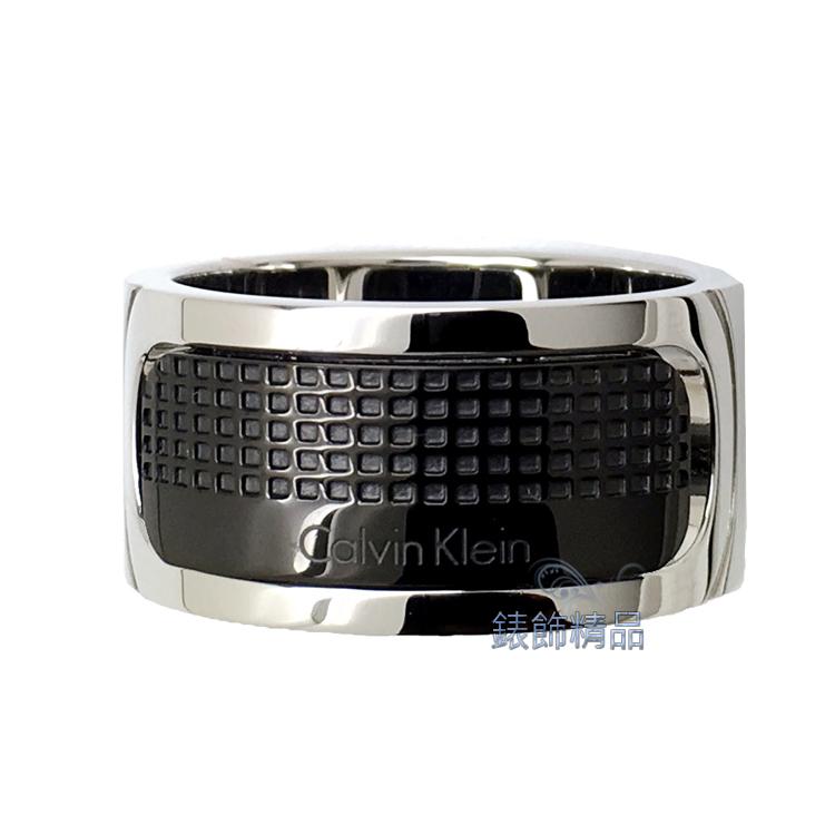 【錶飾精品】Calvin Klein CK飾品 ck男性戒指 316L白鋼 KJ4QBR2001 全新原廠正品 情人禮品