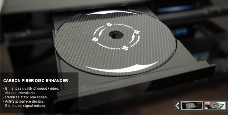 {音悅音響MUSIC HI-FI}KARBON DESIGN Disc Enhancer 碳纖CD墊