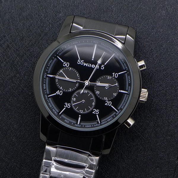 《好時光》Wilon 黑色 小b風 假三眼設計潮流男錶 女錶 對錶 -單支價格