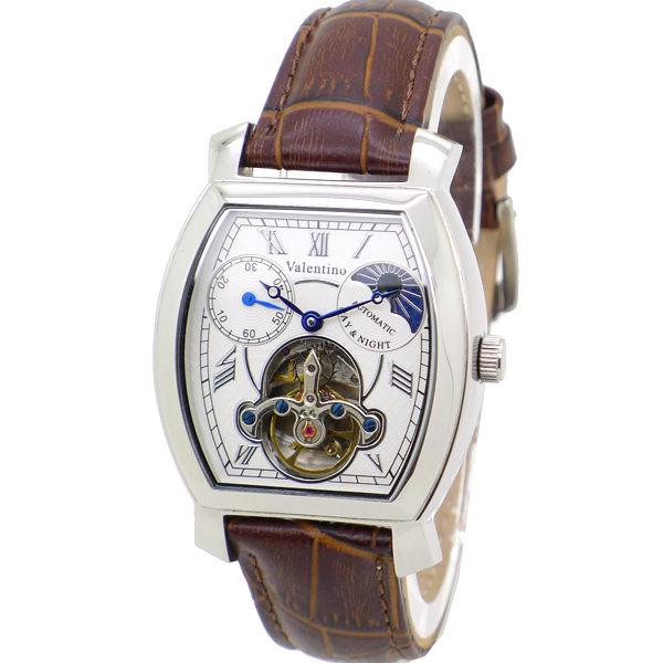 《好時光》Valentino 范倫鐵諾 經典酒桶 羅馬時刻 似陀飛輪 日夜星辰 小秒針 自動機械錶-背面鏤空