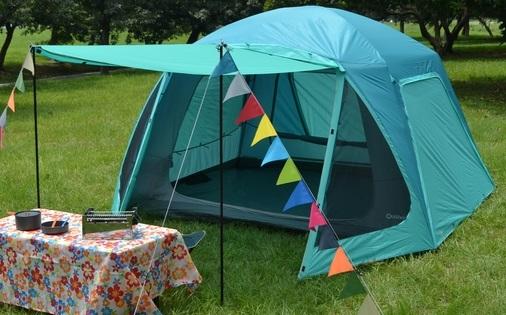 【露營趣】中和 好野 Outthere 馬卡龍 Macaron 6人帳 六人露營帳篷 鋁合金營柱透氣大紗窗 AD00302