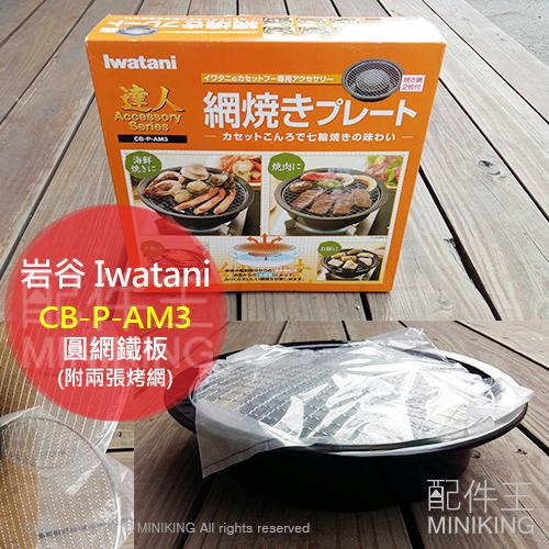 【配件王】現貨 岩谷 Iwatani CB-P-AM3 圓網鐵板 網形烤板 鐵板 另 CB-AH-41