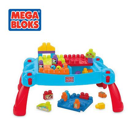 【悅兒樂婦幼用品?】MEGA BLOKS 美高可收納趣味積木桌豪華組 (30片)