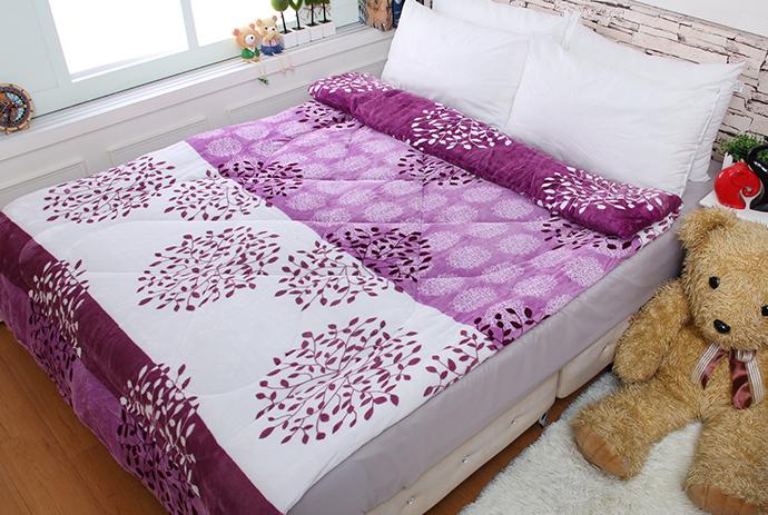 法萊絨/法蘭絨暖暖被/厚毯被 紫籐花語《GiGi居家寢飾生活館》
