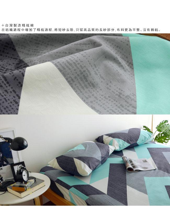 台灣精梳棉床包系列-笛卡兒-藍