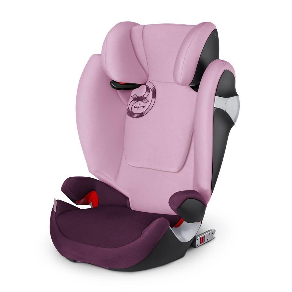 德國【Cybex】Solution M-FIX 汽車安全座椅 (3~12歲) - 公主粉