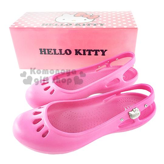 〔小禮堂〕Hello Kitty 水鑽娃娃鞋《桃.成人尺寸》輕量無負擔