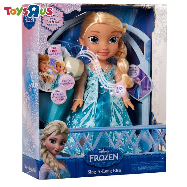 玩具反斗城  冰雪奇緣娃娃-互動合唱艾莎
