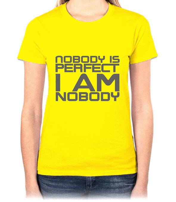『I AM NOBODY』HiCool機能性吸濕排汗圓領T恤