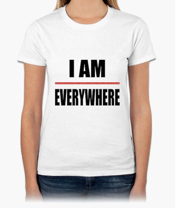『I AM EVERYWHERE』HiCool機能性吸濕排汗圓領T恤