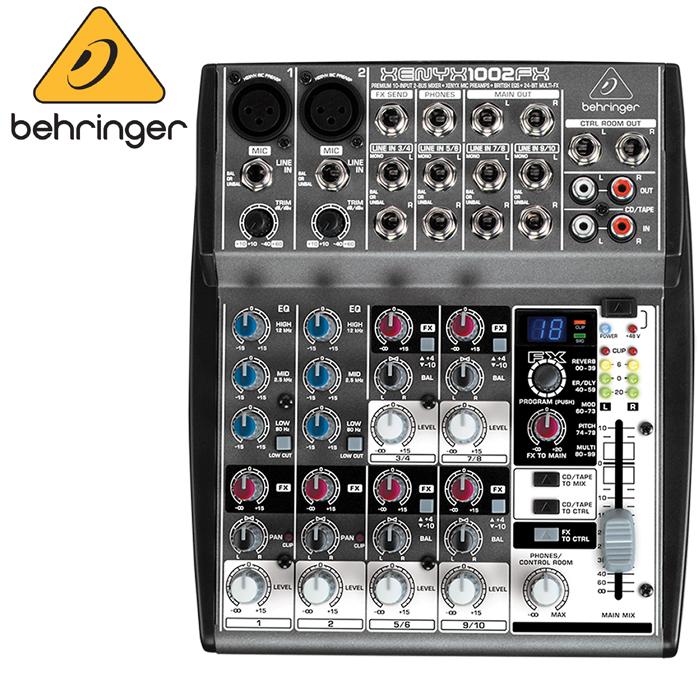 【非凡樂器】德國大廠耳朵牌百靈達 Behringer XENYX 1002FX/10軌混音器(有效果器)/公司貨保固