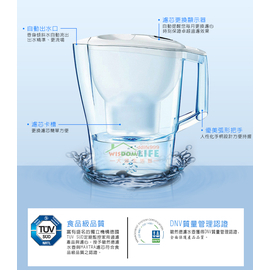 【大墩生活館】德國 BRITA 3.5公升 Aluna XL愛奴娜透視型濾水壺(內含濾心*4)只賣1450白色