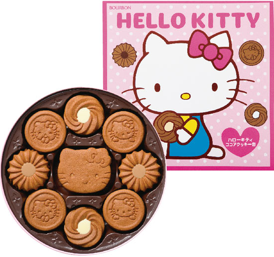 【Bourbon北日本】Hello Kitty巧克力餅乾禮盒(粉) (338g) ?????? ???????缶