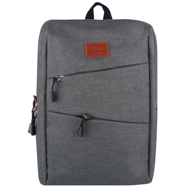 【瞎買天堂x現貨供應】雙斜拉鍊亞麻後背包 電腦包 15吋筆電 書包【BGAA0218】