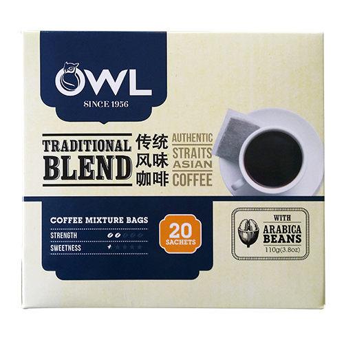 【貓頭鷹】傳統風味黑咖啡110g(20入)