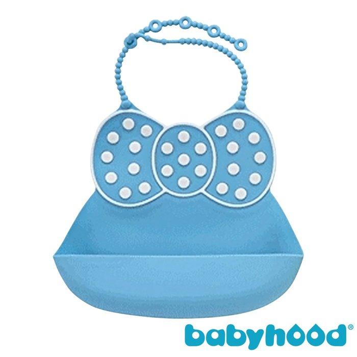 『121婦嬰用品館』傳佳知寶 babyhood 米妮矽膠圍兜 - 藍色