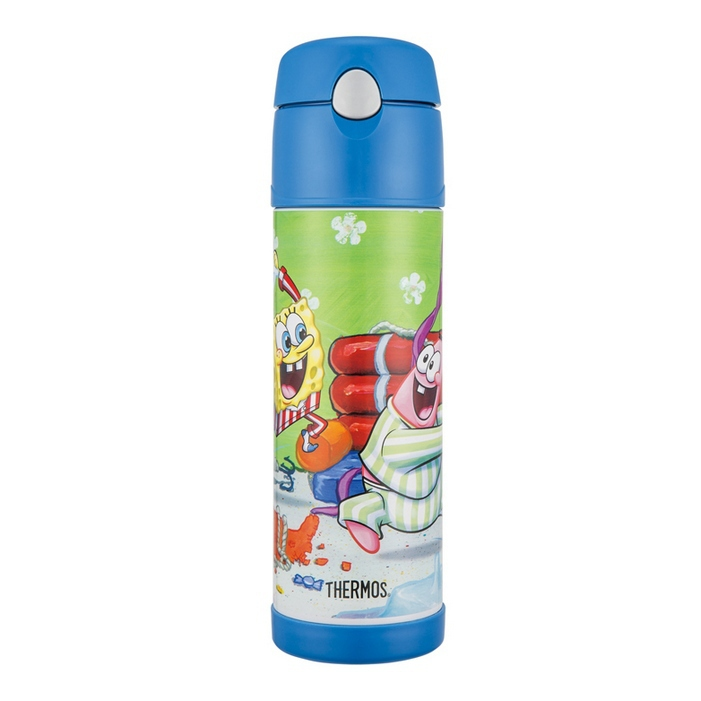 THERMOS 膳魔師 530ml 海綿寶寶 不鏽鋼真空保冷瓶 HS4010SB-BL