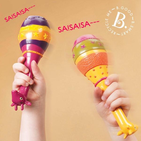 【美國 B.Toys 感統玩具】非洲童樂團-長頸鹿沙球