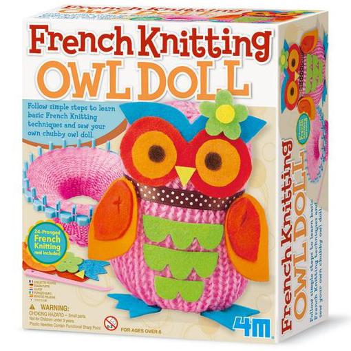 【4M 創意 DIY】French Knitting Owl Doll貓頭鷹娃娃