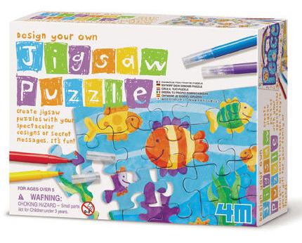 【4M 創意 DIY】Design Your Qwn Jigsaw Puzzle 趣味塗鴉拼圖